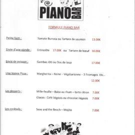 SOIRÉE PIANO BAR  SAMEDI 26 MAI A PARTIR DE 20 H AU RESTAURANT CLUB HOUSE  RÉSERVATION : 04 93 20 28 31
