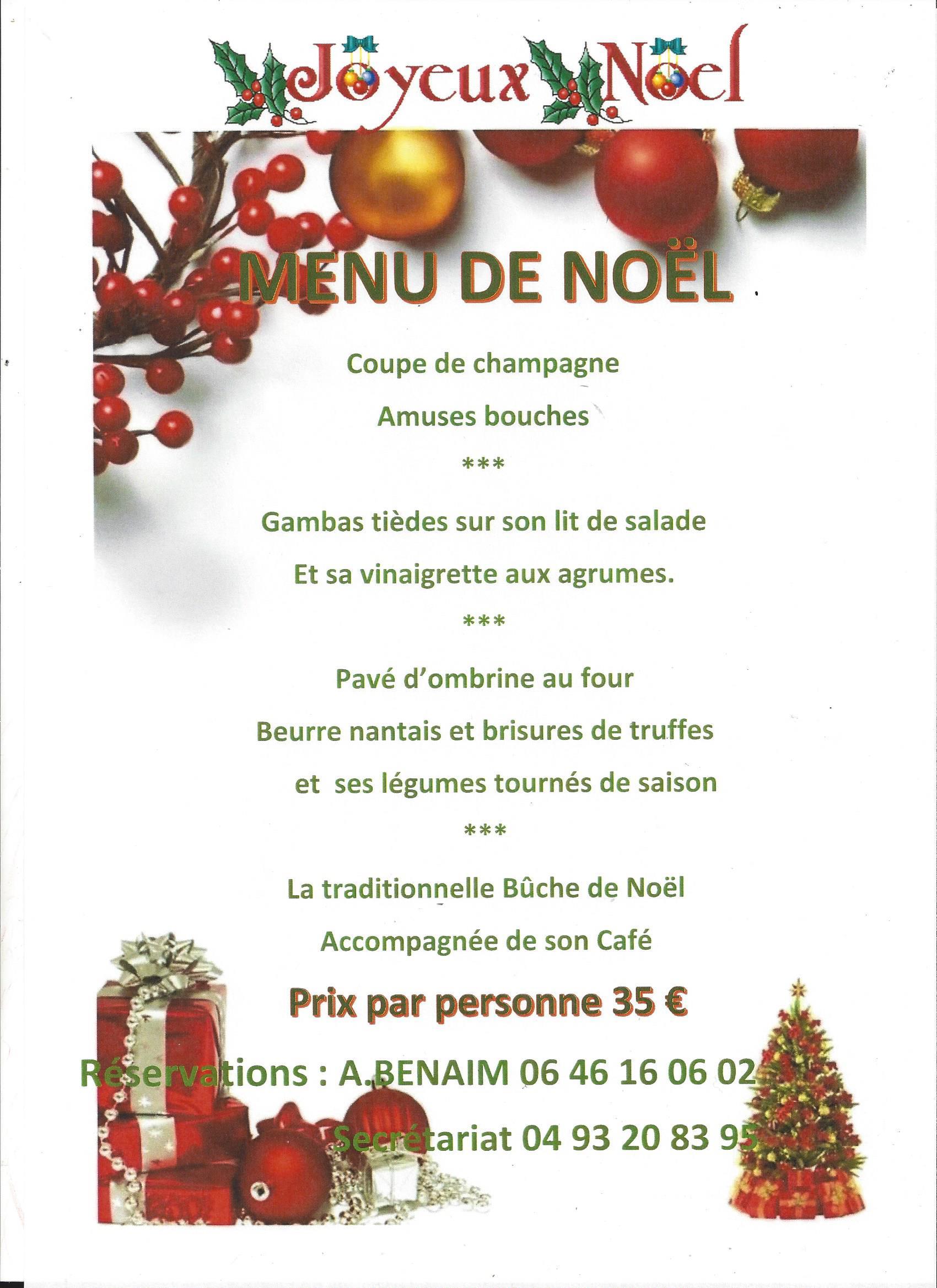 Decoration De Menu De Noel.Le Menu De Noel Au Restaurant Du Domaine Du Loup Club Du