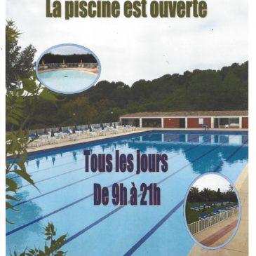 La piscine est ouverte !